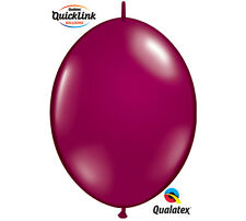 """50ct. BURGUNDY SPARKLE Quicklink 12"""" Latex Helium Linking Balloons ARCHES ARBORS"""