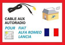 Cable auxiliaire lecteur MP3 IPHONE autoradio FIAT panda nouveau modèle