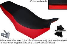 Negro Y Rojo Custom Fits Yamaha Fzx 750 700 doble de piel cubierta de asiento solamente