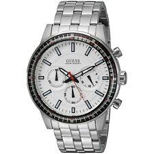 GUESS Men's U0801G1 Analog Display Quartz Silver Watch