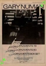 Gary Numan Living Ornaments Advert NME Cutting 1981