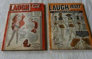 LOT Vintage Laugh Riot Comic Books Magazines 1960's Cartoon Humor Breezy Fun NR