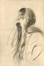 Paul Cesar Helleu Reproduction: Portrait of a Woman- Fine Art Print