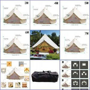 Glamping Bell Tent 5M 3M 4M 6M 7M Cotton Canvas Waterproof Outdoor Beach Yurts