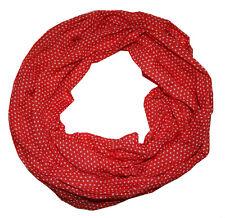 Damen Punkte Seidenschal in schönem rot fein und angenehm leicht