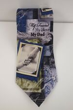 Larson Novelty Father Dad Tie My Friend, My Hero, My Dad 100% Silk
