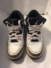 Youth/Women's Nike Air Jordan Retro 3 III 398614-123 Sz 6.5 Y infrared Cement