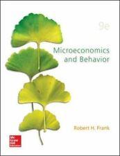 Microeconomics and Behavior by Robert Frank (2014, Hardcover)