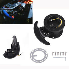 1x Racing Car Tilt System Steering Wheel Quick Release Hub Kit Black Aluminum