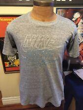 Vintage 80's Nike Blue Tag Rayon Tri Blend T Shirt M Single Stitch Soft USA
