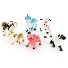 6pcs Farm Yard Animal Model Figures Pig Dog Cow Sheep Horse Kids Toy Gift