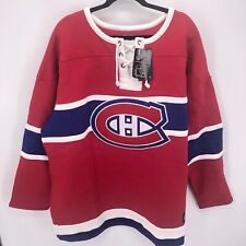 Mens 3XL Montreal Canadiens Breakaway Sweatshirt Jersey Fanatics Sewn NHL Hockey