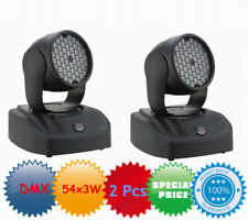 2Pcs 54x3w LED Color Wash Moving Head Light RGB effect Stage DJ Party DMX 250W