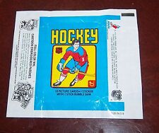 Hockey wax pack wrapper NHL 1979-80 Topps Wayne Gretzky Rookie Patches AD