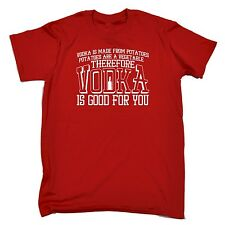 Men's Vodka Is Good For You Funny Joke Bar Pub Adult T-SHIRT