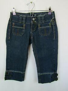 NWOT Industrial Cotton Juniors Sz 1 Bermuda Stretch Denim Jeans Long Shorts
