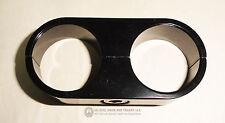 "Braided or Regular Hose Separator Dual Mount Clamp AN12 .950"" OD Hoses BLACK"