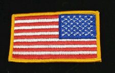 USA Flag Patch Reversed Gold Border for the right shoulder