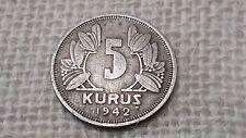 Turkey 5 kurus 1942