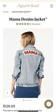Mama Denim Jacket Size XL Ingrid & Isabel Maternity Post-Baby Fashion