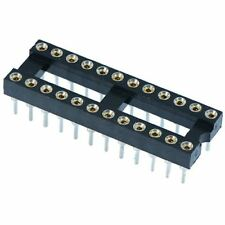 """5 x 24 Pin DIP/DIL Turned Pin IC Socket Connector 0.3"""" Pitch"""