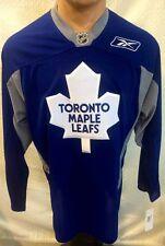 Reebok Practice  NHL Jersey Toronto Maple Leafs Team Blue Practice sz L