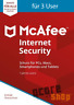 McAfee Internet Security 2018 2019 - 3 User/PC 1 Jahr - Vollversion Antivirus