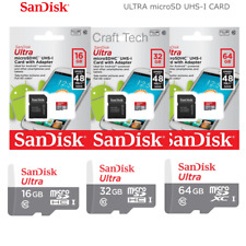 SanDisk Ultra 16GB 32GB 64GB microSDHC microSDXC Class 10 Memory Card Us Seller