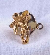 On My Shoulder Lapel Pin Vintage 80's Gold Tone Guardian Angel