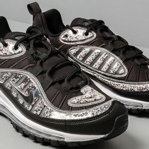 Nike Air Max 98 LX In Rare UK 9.5 EU44.5 (Recycled Material) Black White Unisex