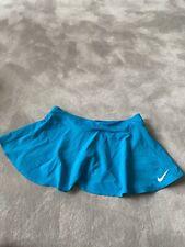 Nike Dry Fit Blue Tennis Skirt Skort With Shorts Size Medium Mini Active