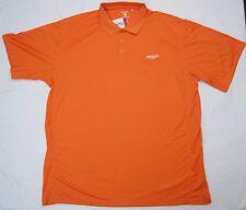 AMAZON 5XL Polo Shirt Mens S/S Orange Clique Ice Pique Poly