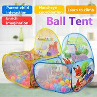 Outdoor Indoor Pop Up Kids Baby Children Game Play Toy Tent Ocean Ball Pit Pool