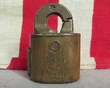 Vintage Antique US Reg'd Mail Lock Postal Rotary Padlock Post Registered M76331