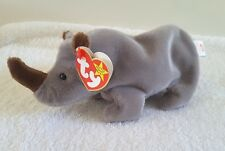 Vintage Ty Beanie Baby - 1996 Spike The Rhinoceros Orig Tag W/Fr Ship