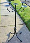 Vintage Gothic Medieval Candelabra Candlestick Holder Floor Stand Funeral Home