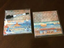 Railroad Ink Game - Red and Blue Train Promo Boards 1 + 2 and Pen NEW!