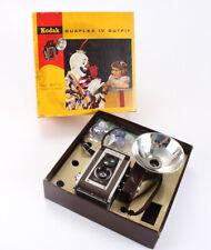 KODAK DUAFLEX IV + FLASH UNIT, BOXED, USES 620 FILM, LOOSE REFLECTOR/207674