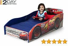 Toddler Bed Wooden Furniture Disney Cars Kids Bedroom Race Car Boy disney pixar