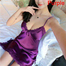 Sexy lingerie silk robe dress pajamas women's Nightdress Nightgown Sleepwear