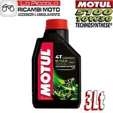 MOTUL 5100 10W30 4T 3 LT ACEITE MOTOR MOTO TECHNOSYNTHESE ESTER MA2 HONDA YAMAHA