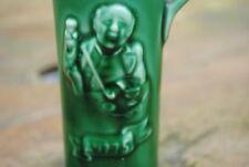Vintage Gouda green glazed stone bottle Hulstkamp Liquor flask Hulstkamp Holland