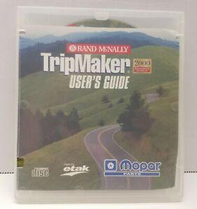 VTG Rand McNally TripMaker User's Guide 2000 Millennium CD Atlas Mopar Etak Maps