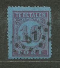 Nederland Port   2 A gebruikt (3) met puntstempel 57 ('s-Hertogenbosch)