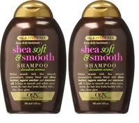 OGX Silicone Free Frizz Defy Shea Soft & Smooth Shampoo, 13 oz (2 Pack)