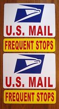"""(2)  U.S. MAIL Magnetic Signs USPS - 8"""" X 12"""" PLUS (2) FREQUENT STOPS - 3"""" X 12"""""""