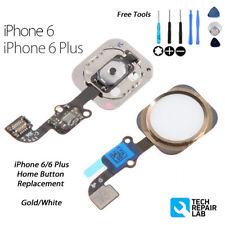 Reemplazo Completo de botón de Inicio Flex Con Herramientas Para Iphone 6 Blanco Dorado/