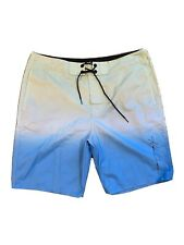 Hollister Swim Trunks Mens 36 Blue White Board Shorts Bathing Suit Swimming Men