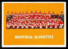 1964 TOPPS CFL FOOTBALL #49 MONTREAL ALOUETTES TEAM CARD EX+ cond