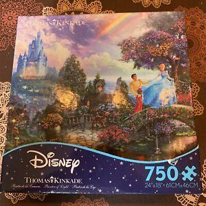 Disney Thomas Kinkade Cinderella Puzzle by Ceaco 750 pieces 24x18 - Complete